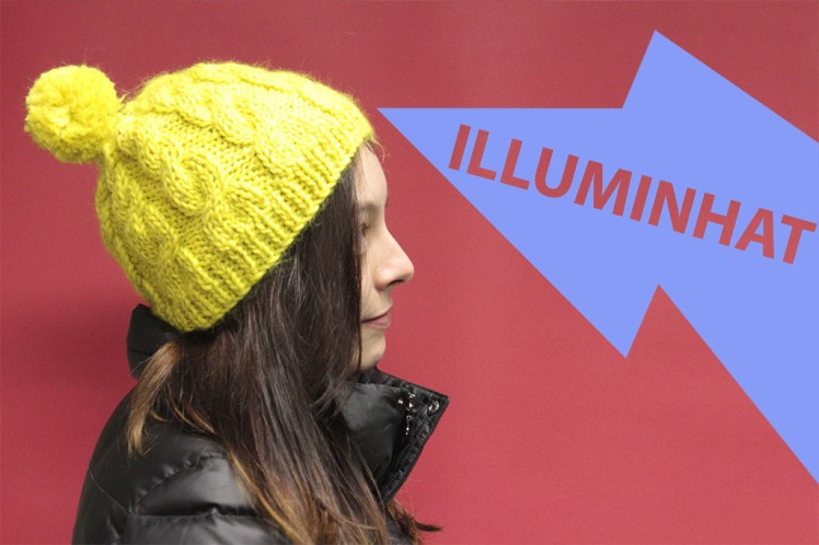 IlluminHat - reflective cabled beanie from On The Glo