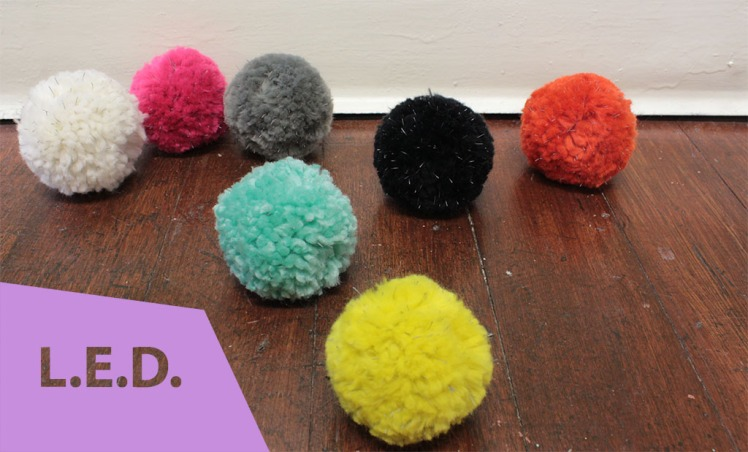 L.E.D. - reflective pom-poms from OnTheGlo